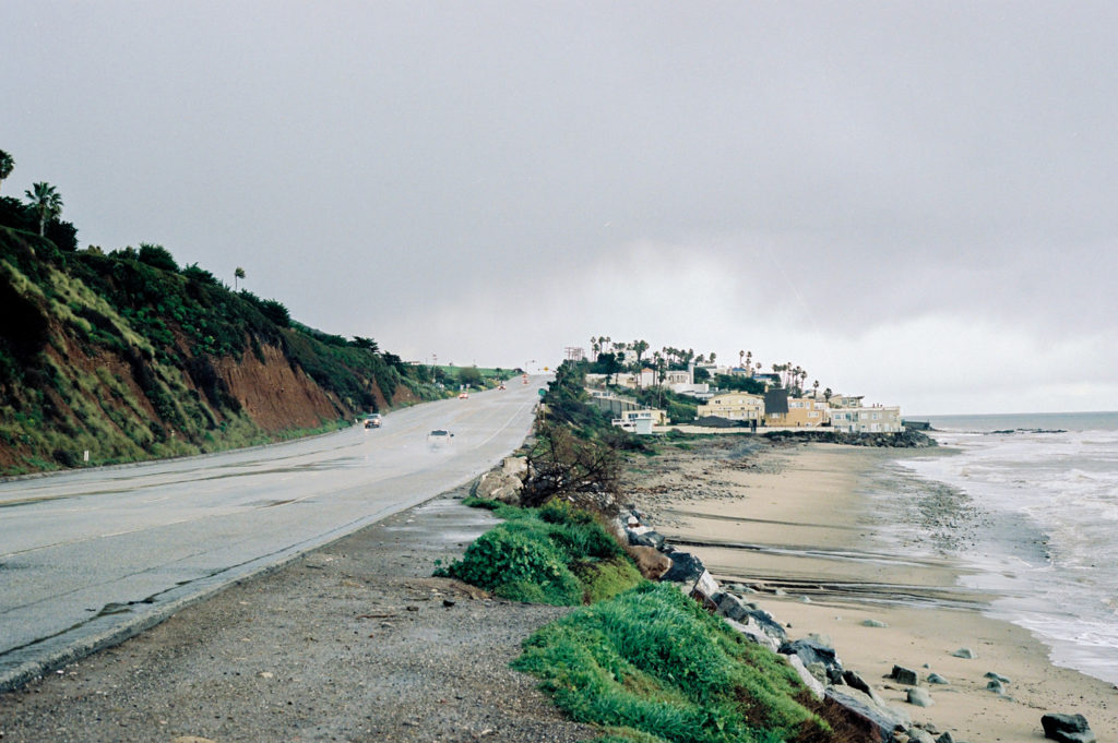 beach by pacific coastline highway