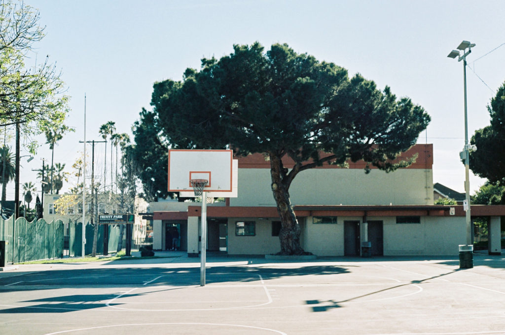 trinity park basketball court in LA